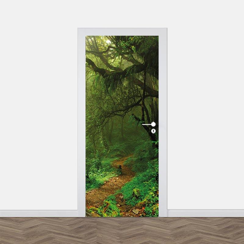 Adesivo per porte Foresta misteriosa