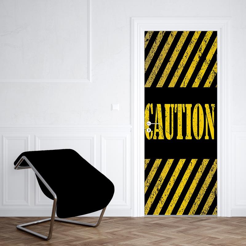 Adesivo per porta Attenzione
