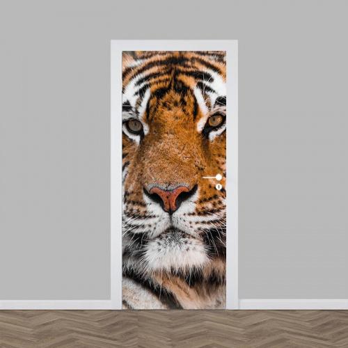 Adesivo per porte Tigre vicino
