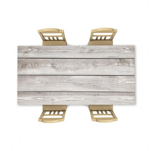 Adesivo da tavolo Luce del modello in legno 9