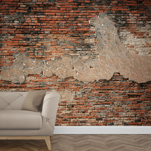 Fotobehang baksteen patroon 6