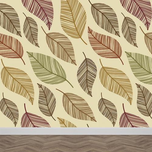 Fotobehang Bladeren patroon 7