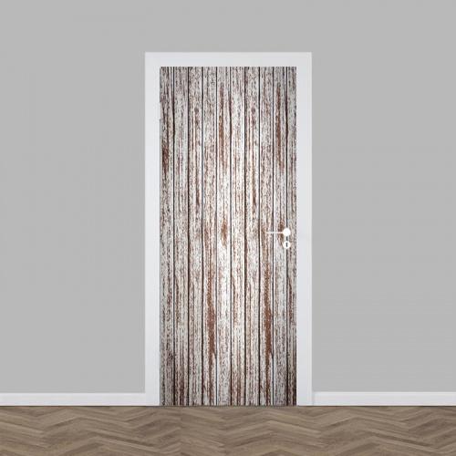 Adesivo per porta Modello in legno 3
