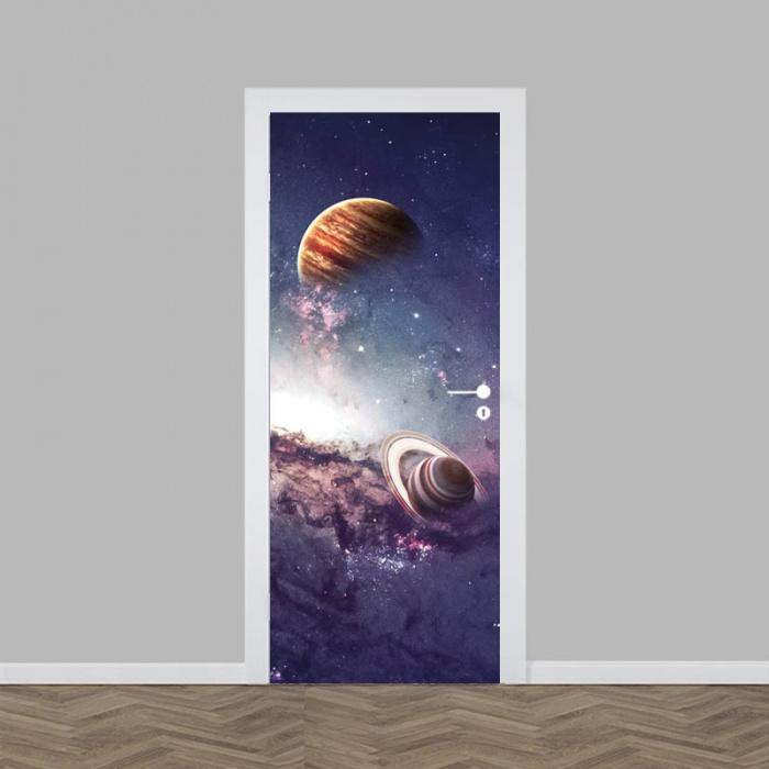Adesivo per porta Universo