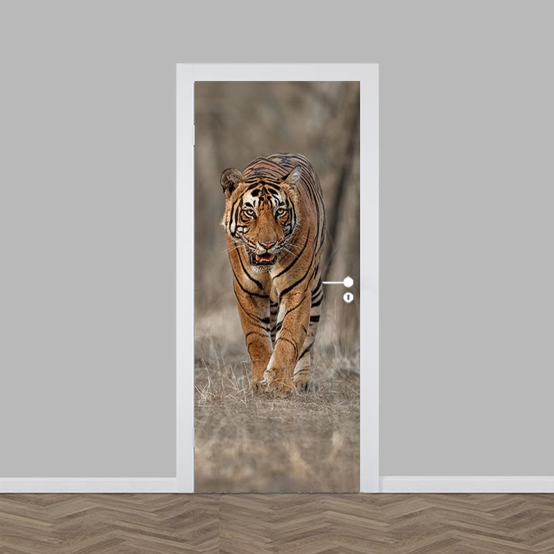 Adesivo per porta Tigre pericolosa