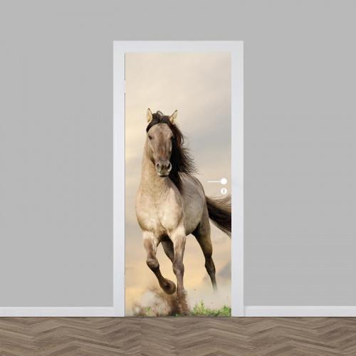 Adesivo per porta Cavallo in corsa
