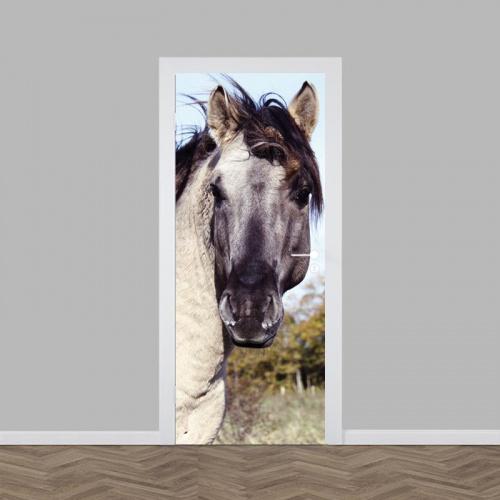 Adesivo per porta Cavallo da vicino