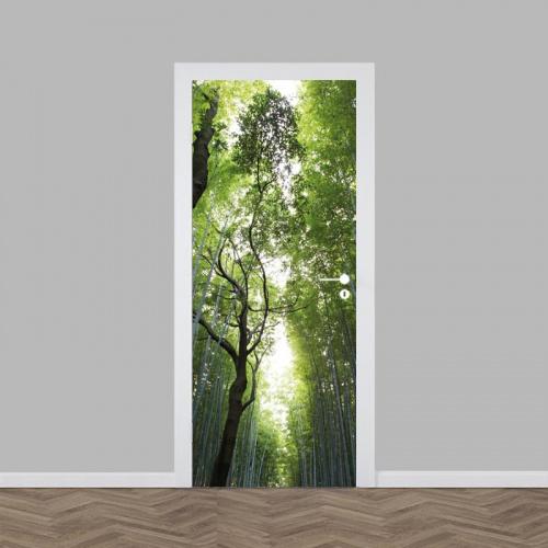 Adesivo per porte Giungla di bambù