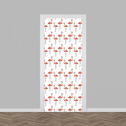 Adesivo per porta Modello di fenicottero 3