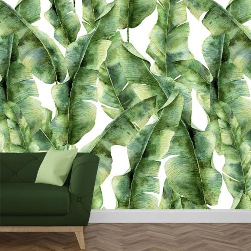 Carta da parati Motivo di foglie tropicali 5