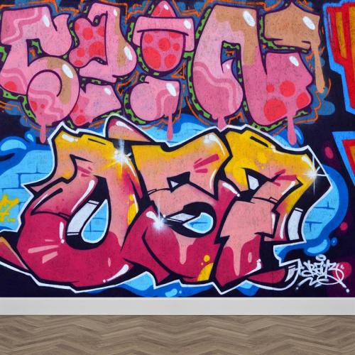 Fotobehang graffiti nummers