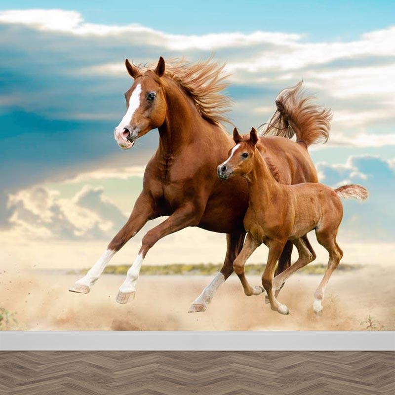 Carta da parati Cavallo con puledro