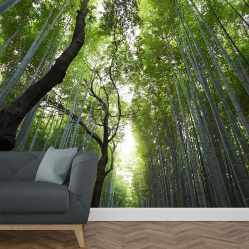 Fotobehang bamboe oerwoud