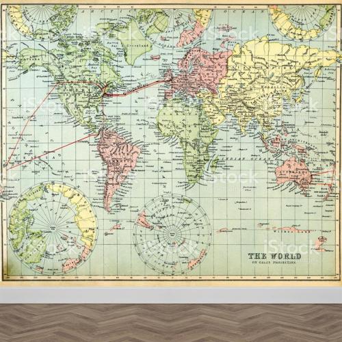 Carta da parati Mappa del mondo antico