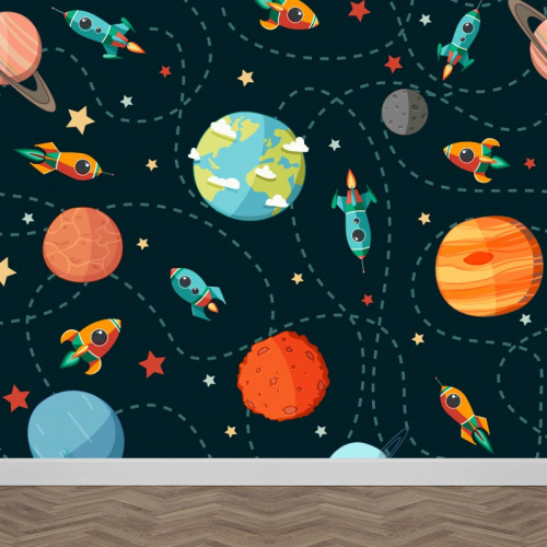 Carta da parati Viaggio spaziale