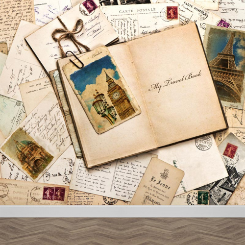 Carta da parati Una carta da Parigi