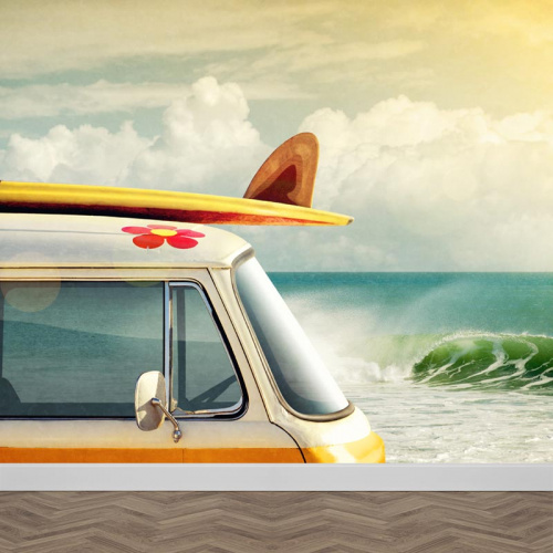 Carta da parati Spiaggia vintage