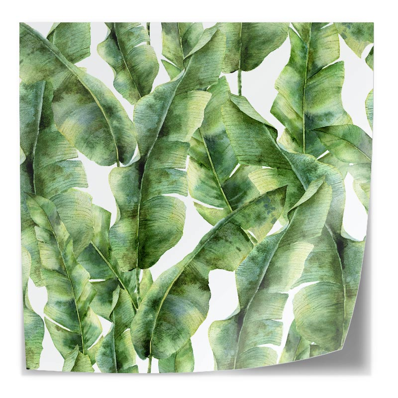 Adesivo da tavolo Tropical leaves pattern 5