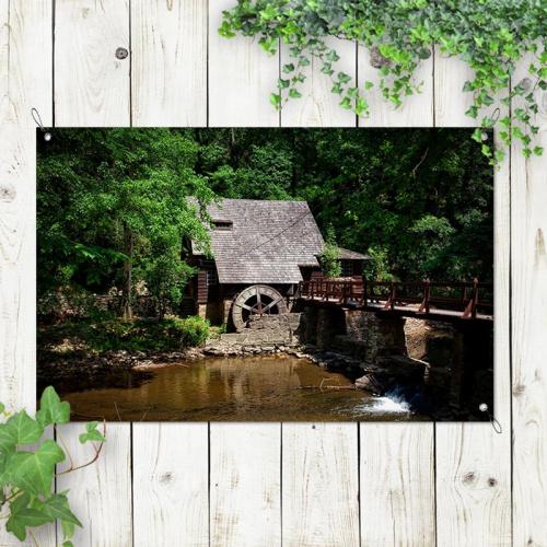 Poster da giardino Mulino ad acqua