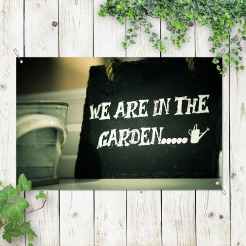 Poster da giardino Siamo nel giardino