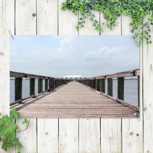 Poster da giardino Pontile nel mare