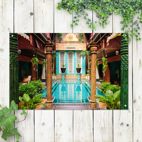 Poster da giardino Benessere termale