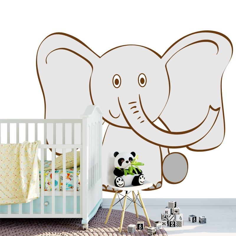 Adesivo Elefante disegnato