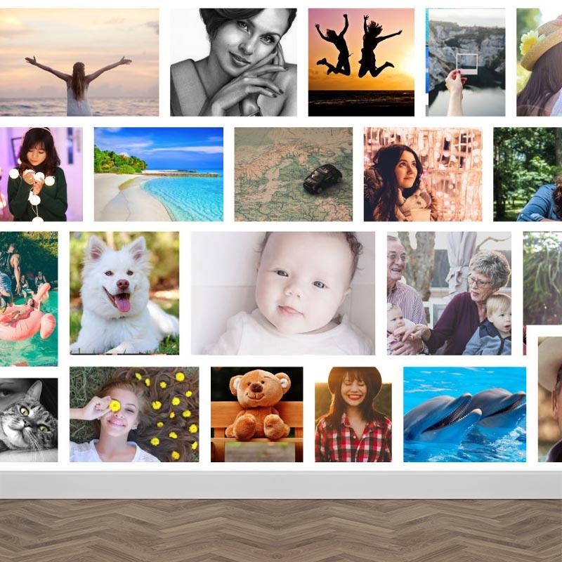 Carta da parati con le vostre immagini