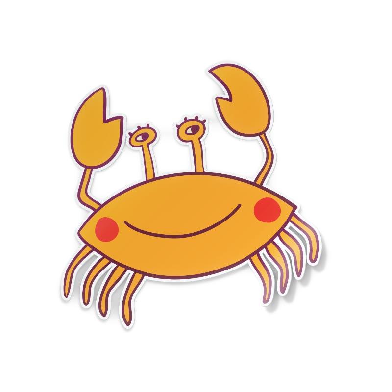 Adesivo Cartone animato di granchio