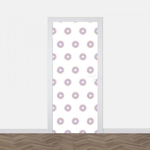 Adesivo per porta Ciambelle disegnate