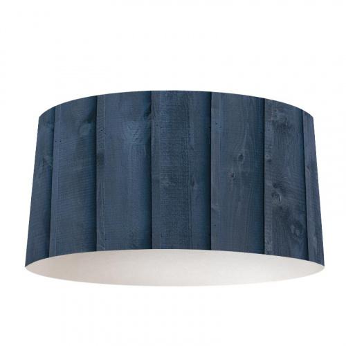Lampenkap Hout patroon donkerblauw