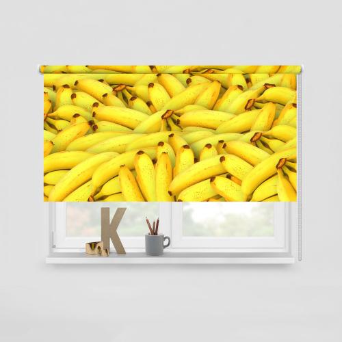 Rolgordijn Bananen