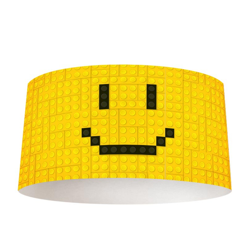 Lampenkap Lego smiley