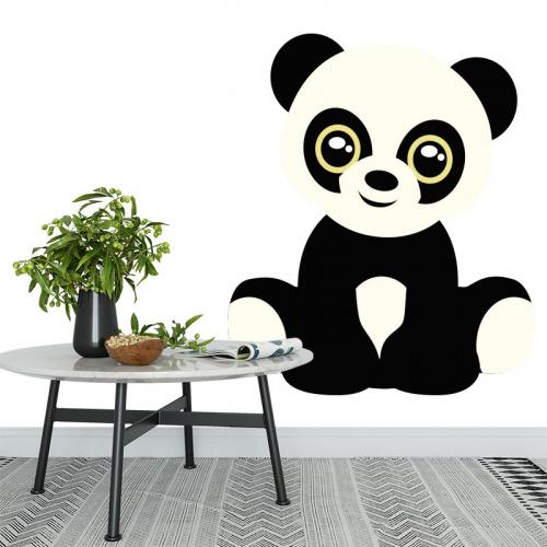 Sticker schattige panda