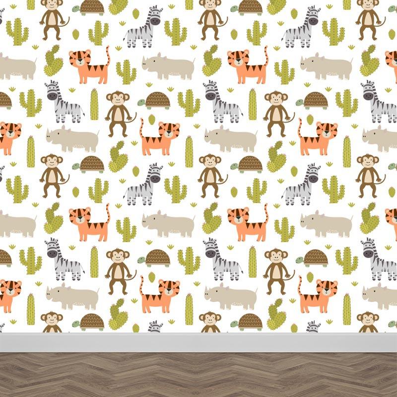 Fotobehang Wilde dieren patroon 2