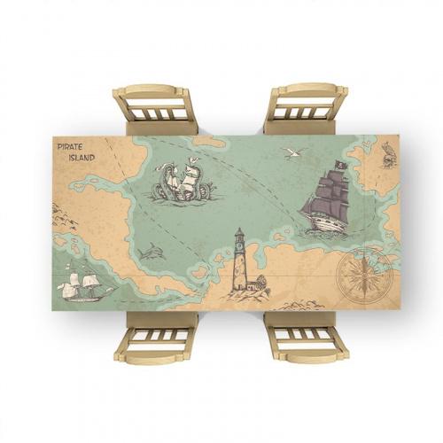 Tafelsticker Schatkaart