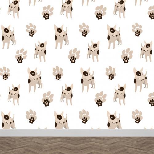 Fotobehang Hondjes patroon 1