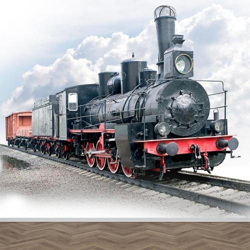 Fotobehang oude locomotief