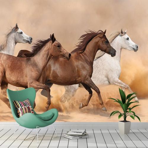 Fotobehang Wilde paarden