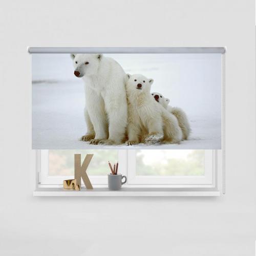 Tenda a rullo Famiglia di orsi polari