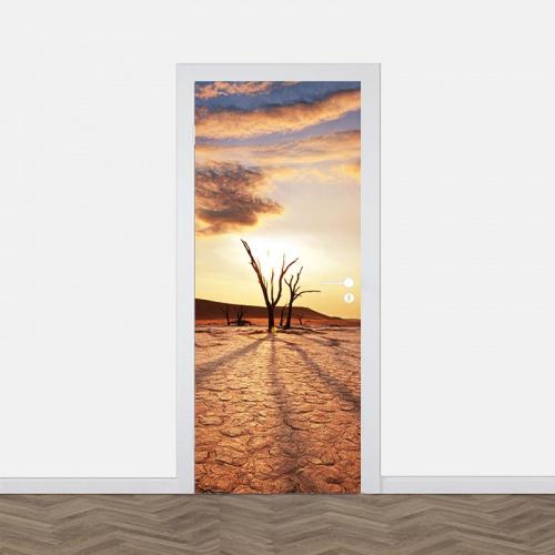 Deursticker Woestijnlandschap