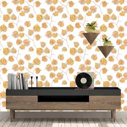 Fotobehang Herfstbladeren patroon