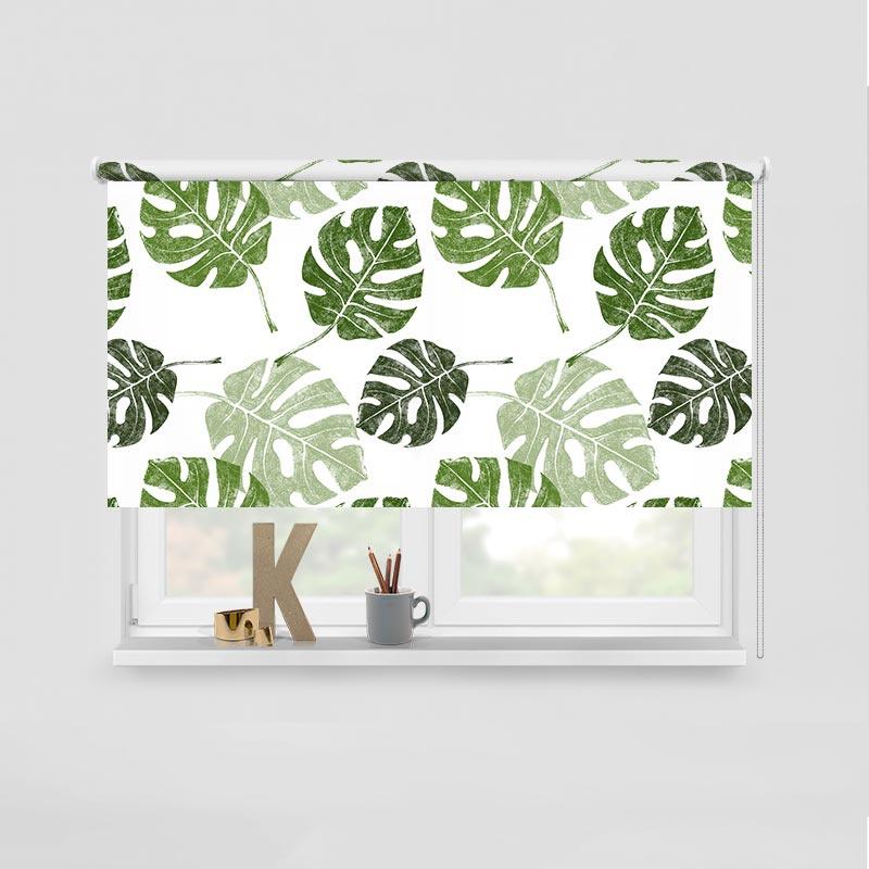 Rolgordijn tropische bladeren 1