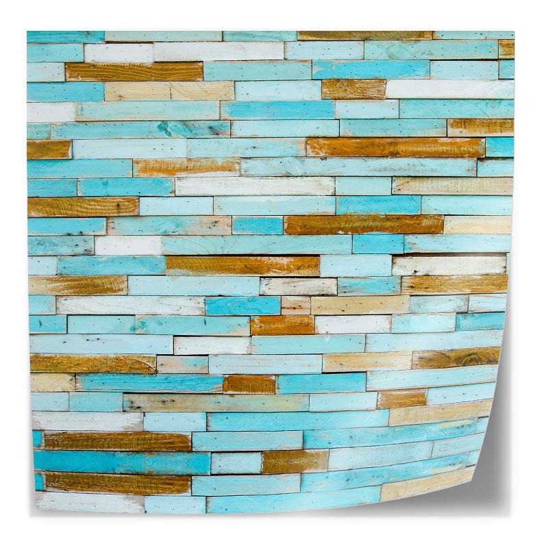 Tafelsticker Gekleurd steigerhout blauw