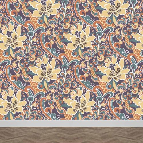 Fotobehang Abstract bloemen patroon 2