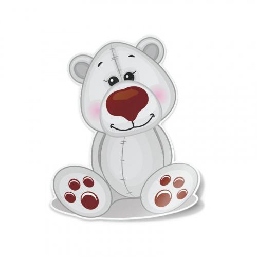 Sticker schattige ijsbeer