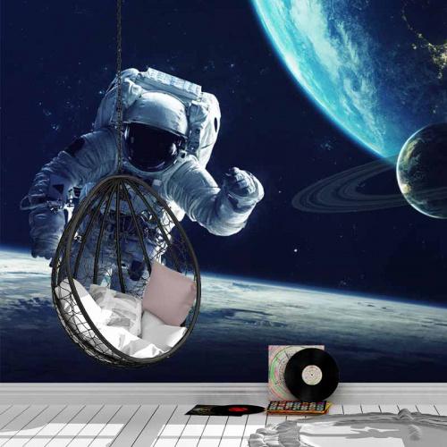 Carta da parati Astronauta sulla terra