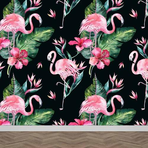Fotobehang Botanische jungle patroon 3