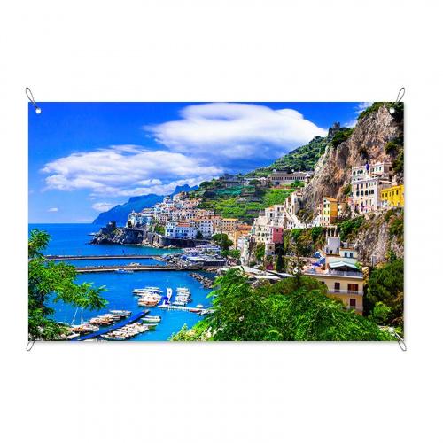 Poster da giardino Vista sul mediterraneo