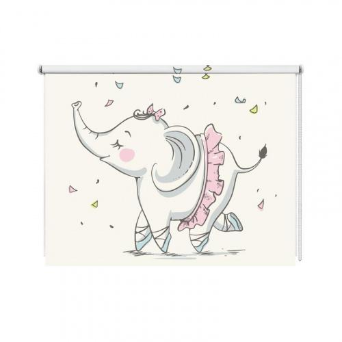 Tenda a rullo Elefante ballerina